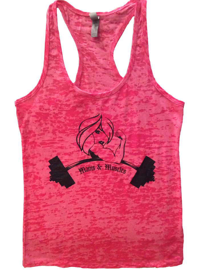 Manis and Muscles Burnout Tank Top